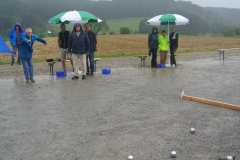 Finalspiel bei Regen